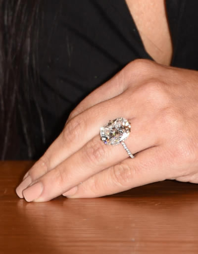 Kanye West Buys Kim Kardashian Another Giant Diamond Ring
