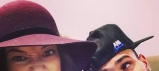 Karrueche Tran and Chris Brown Selfie
