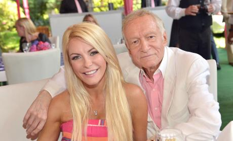 Hugh Hefner and wife Crystal Hefner