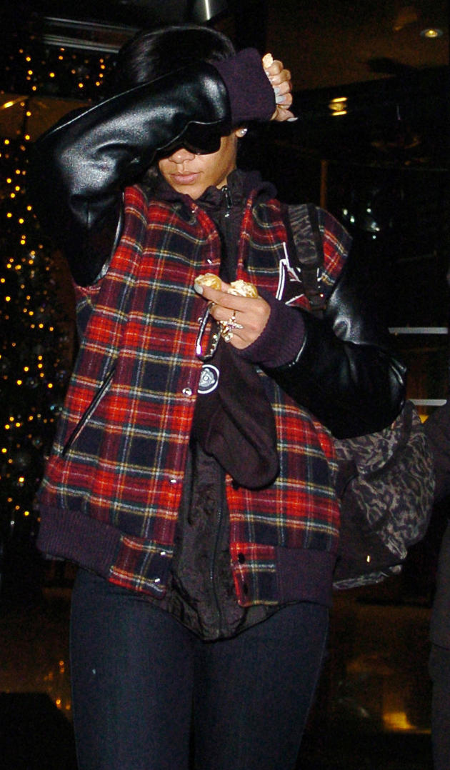 Rihanna Emerges in London