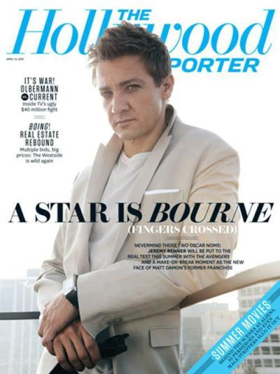 Jeremy Renner on The Hollywood Reporter