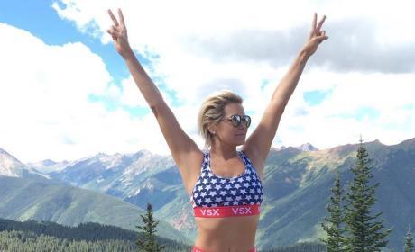 Yolanda Foster Patriotic Pic
