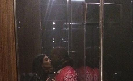 Kim Kardashian: Trolling Beyonce with Elevator Kiss Photo?