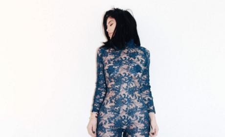 Kylie Jenner in lace jumpsuit