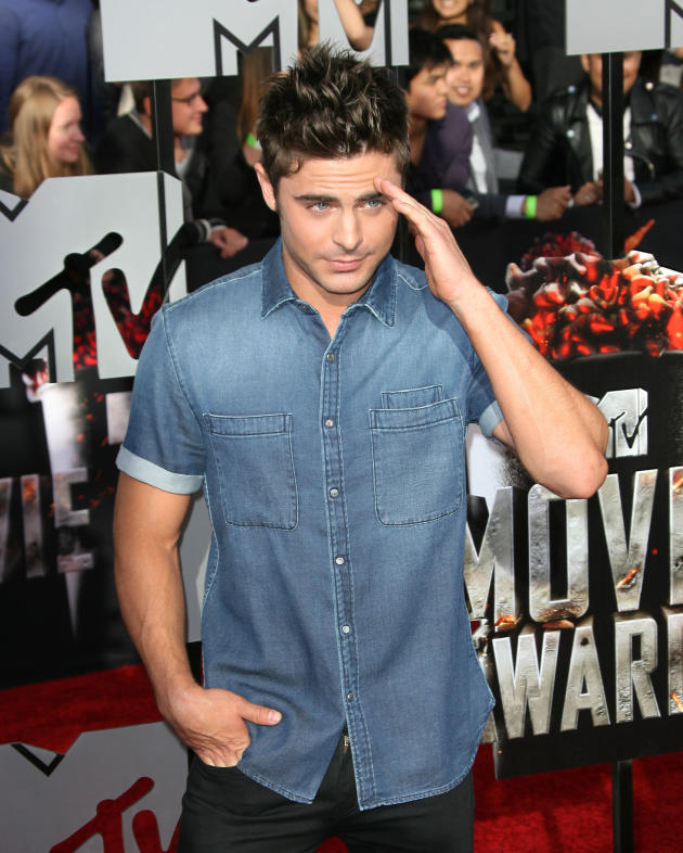 Zac Efron at MTV Movie Awards