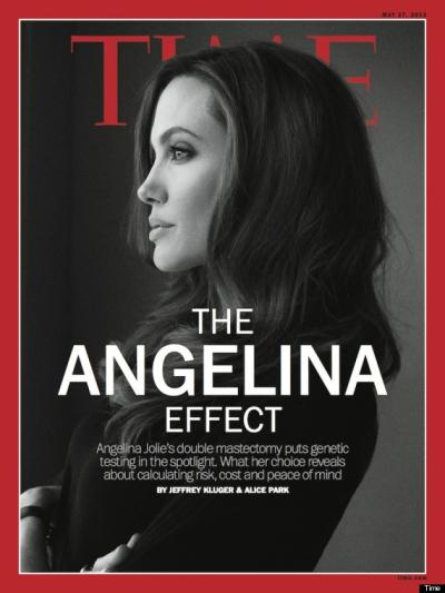 Angelina Jolie Time Cover