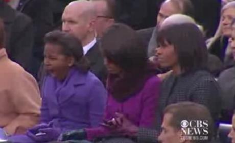 Sasha Obama Yawn
