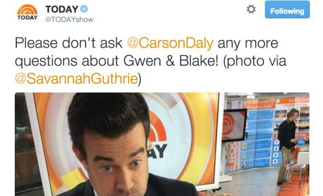 Carson Daly: Stop Asking Me About Gwen and Blake!
