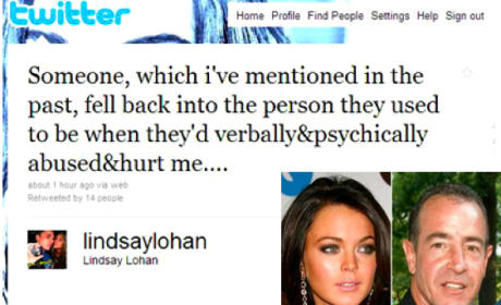 Lindsay Lohan Tweets Abuse Allegations at Dad