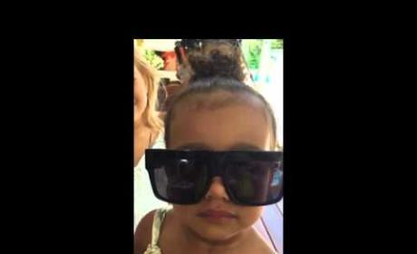 North West Curses & Acts Totally Ratchet in New Video by Khloe Kardashian