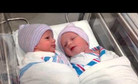 Newborn Twins Have First Conversation