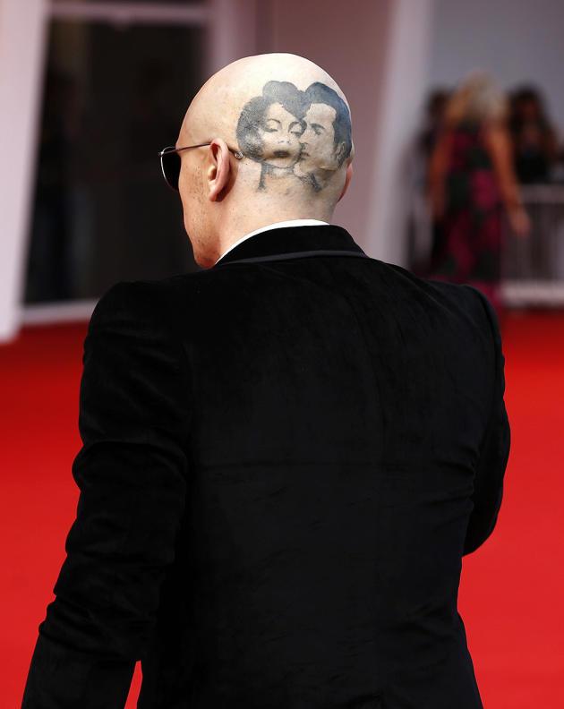 James Franco Debuts Weird Fake Head Tattoo At Venice Film
