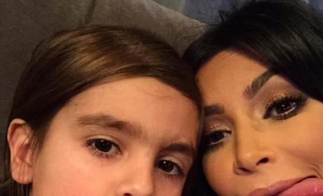Kim Kardashian Gets Goofy with Nephew on Instagram
