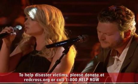 "Blake Shelton, Miranda Lambert Perform ""Over You"" For Oklahoma Tornado Victims on The Voice"