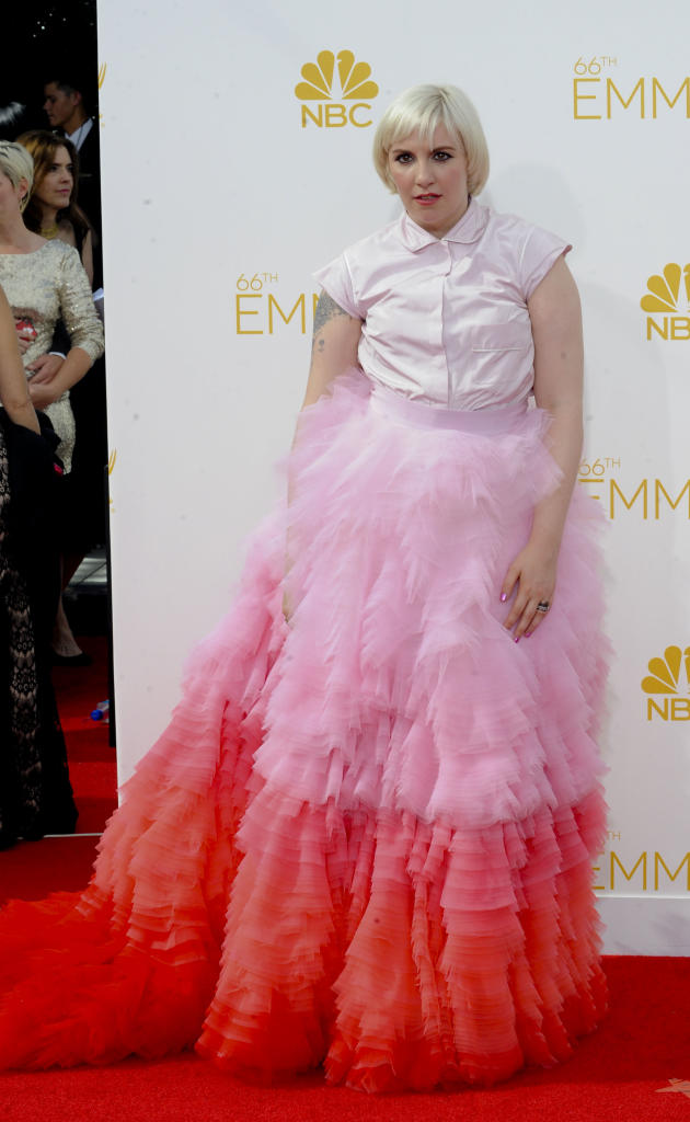 Lena Dunham at the 2014 Emmys