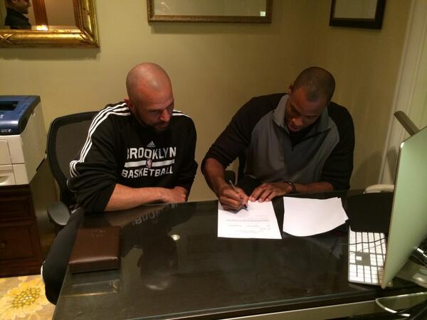 Jason Collins Contract Signing