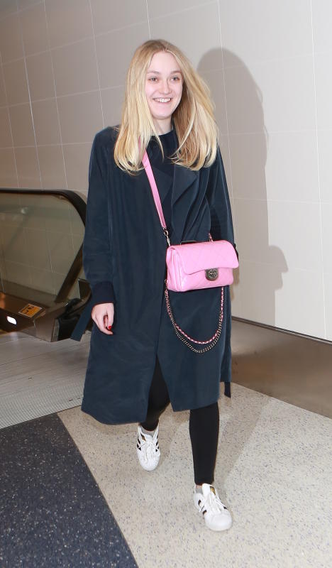Dakota fanning departs from lax