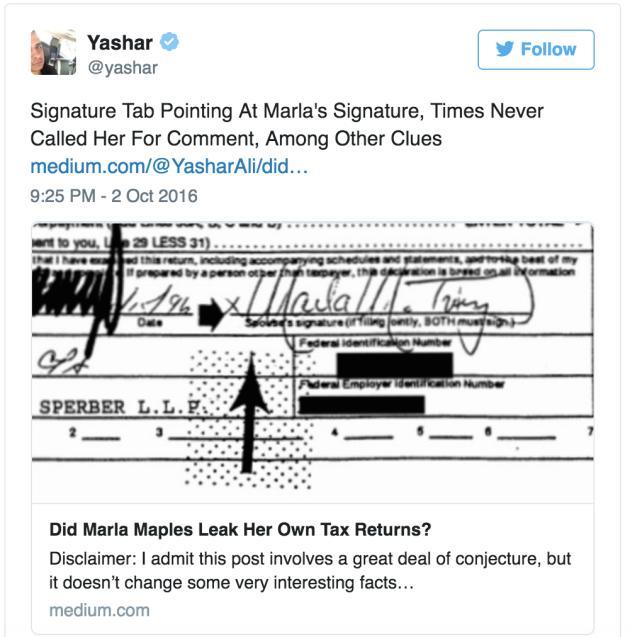 Marla Maples: Did She Leak Donald Trump Tax Returns