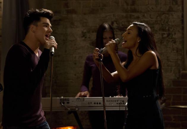 Adam Lambert and Naya Rivera