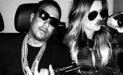 Khloe Kardashian Poses with French Montana, Machine Gun on Instagram