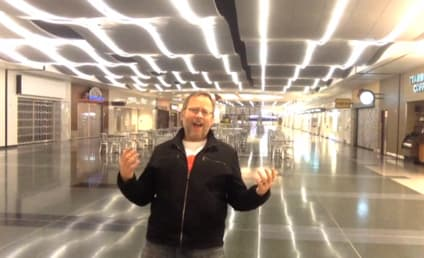 """Awesome Guy Gets Stranded at Las Vegas Airport, Records """"All By Myself"""" Music Video"""