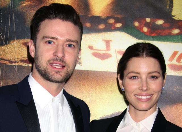 Justin Timberlake and Jessica Biel Image