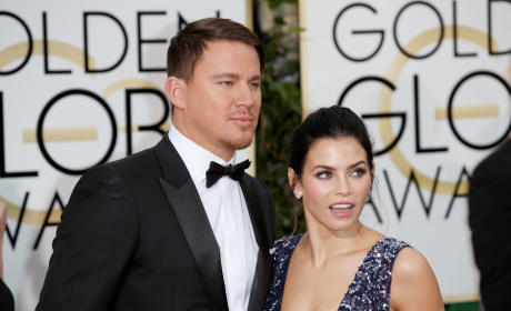 Channing Tatum and Jenna Dewan-Tatum at the Golden Globes