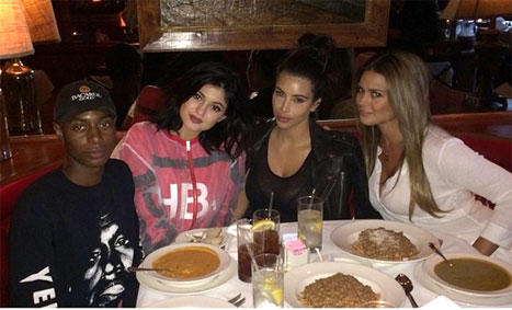 Kim Kardashian at Dinner