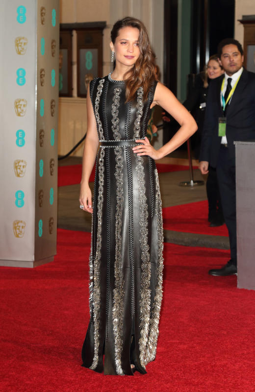 Alicia Vikander at the BAFTAs