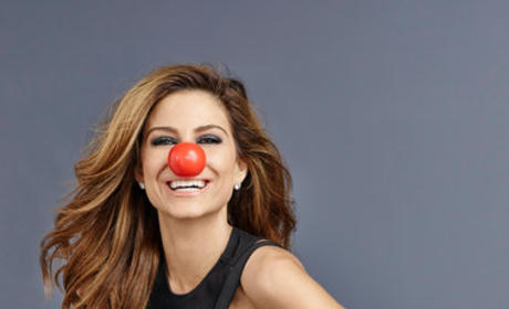 Maria Menounos Red Nose Photo
