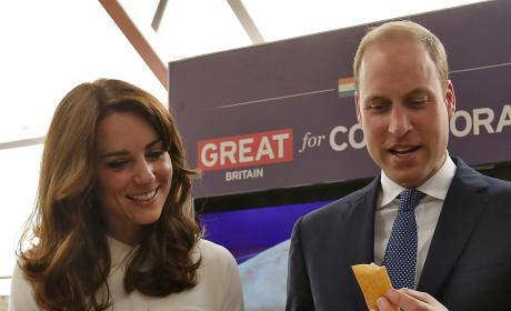 Prince William Eats a Dosa