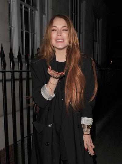 Lindsay Lohan Hits the Club
