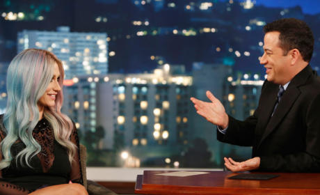 Ke$ha and Jimmy Kimmel