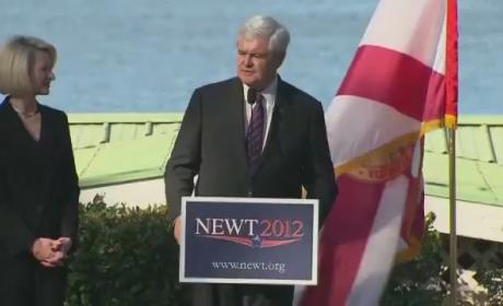 Newt Gingrich on Mitt Romney: He Thinks We're All Stupid!