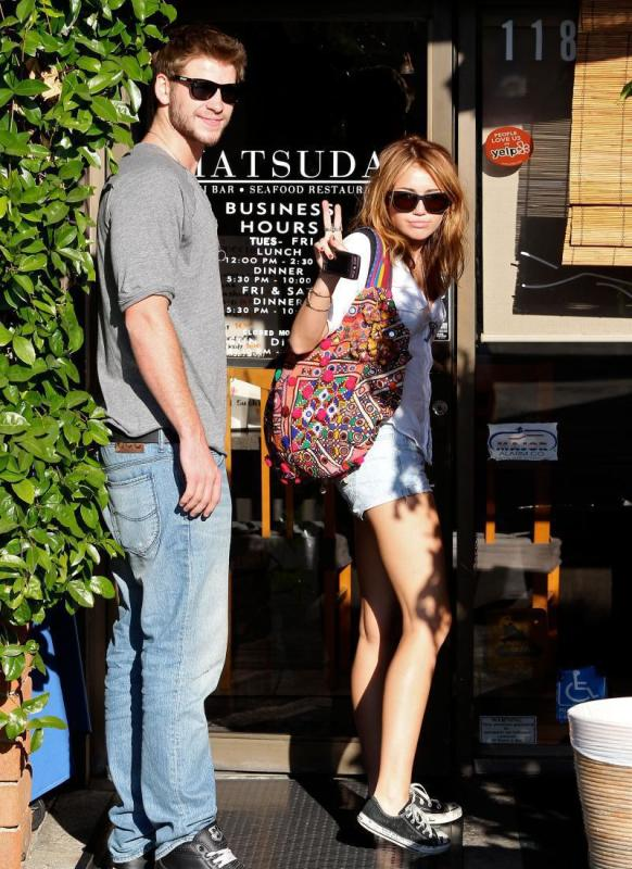 Liam and Miley Photo