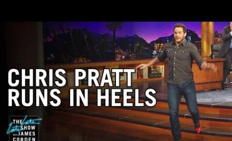 Chris Pratt Tries to Run in High Heels