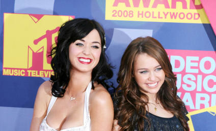Katy Perry Kisses a Girl... Named Miley Cyrus!