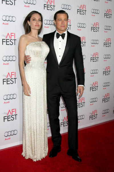 Angelina and Brad Red Carpet