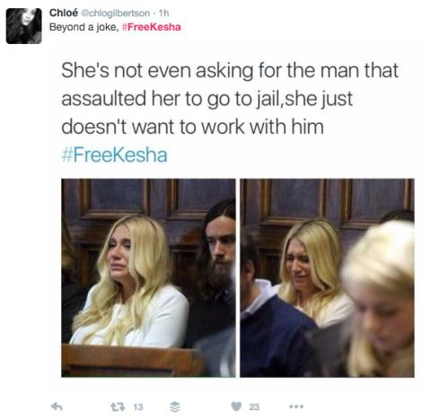 #FreeKesha tweet