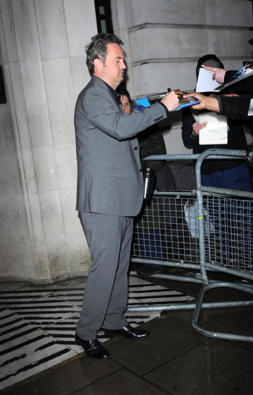 Matthew Perry Outside BBC Radio 2 Studios