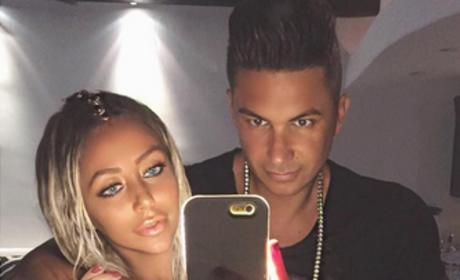 Pauly D & Aubrey O'Day Posing On Instagram