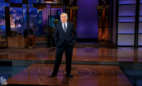 Jay Leno Jokes About Job Status, Compares NBC to March Madness