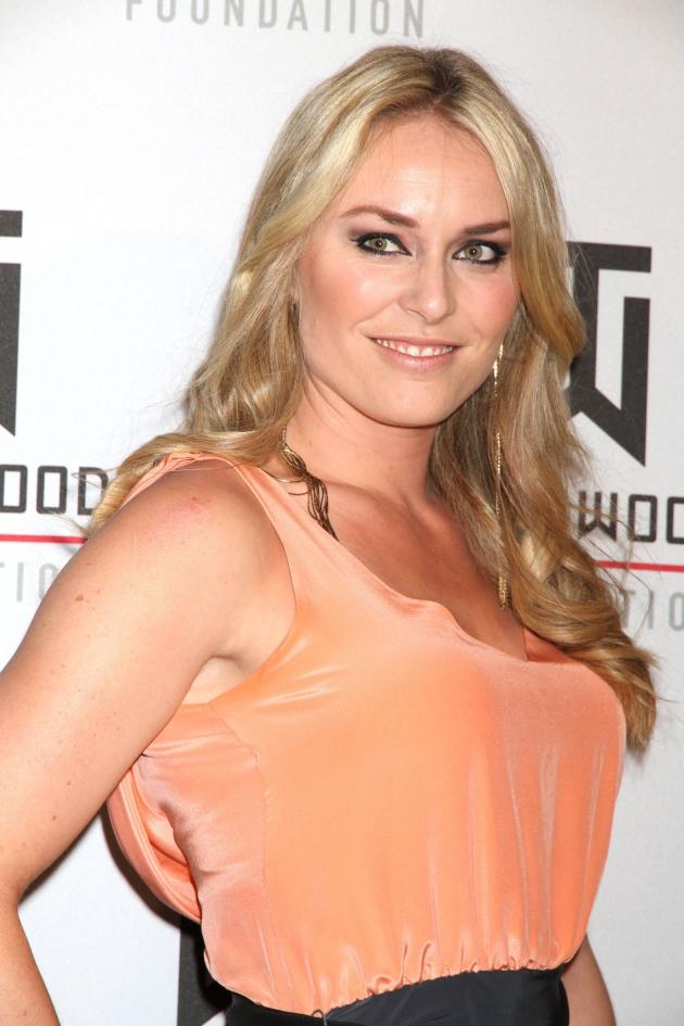 Lindsey Vonn in Peach