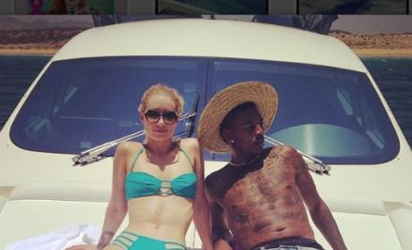 Iggy Azalea and Nick Young Yacht Photo