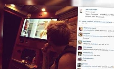 Aaron Carter Continues to Stalk Hilary Duff With Creepy Instagram Pic