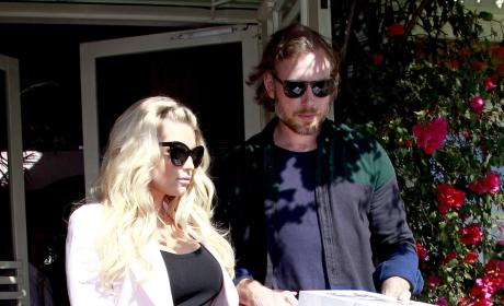 Eric Johnson, Jessica Simpson at Ivy