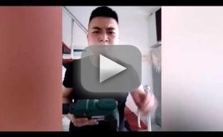 Idiot Uses Power Drill to Eat Corn on the Cob in Record Time