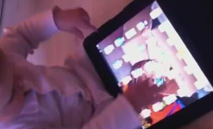 Little Kid Treats Magazines Like iPad