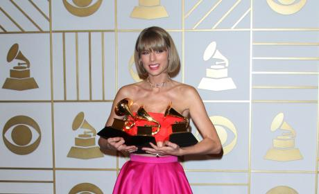 Taylor Swift: 58th GRAMMY Awards Press Room
