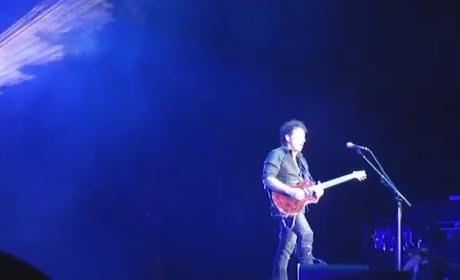 Michaele Salahi Celebrates Birthday, Serenaded By Neal Schon at Journey Concert